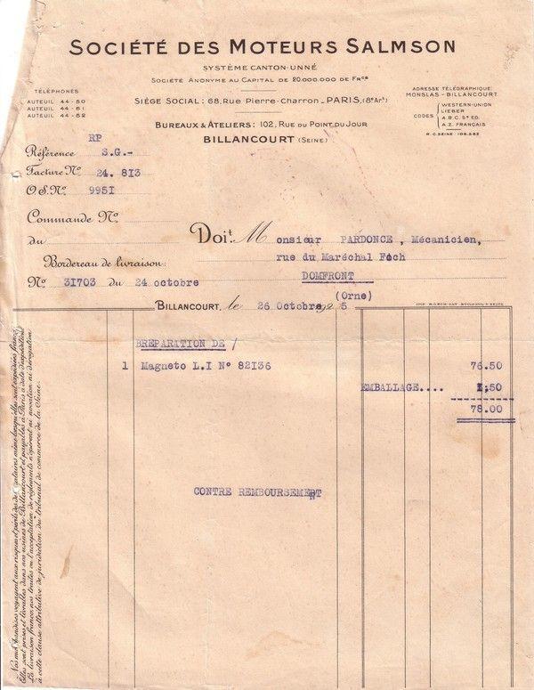 1925 : Société des Moteurs Salmson