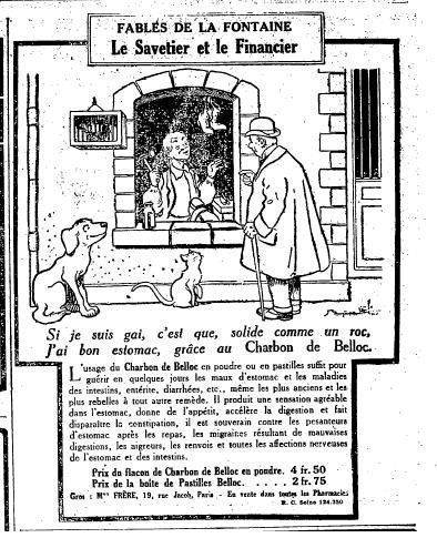 "1924 : fable ""le savetier et le financier"""