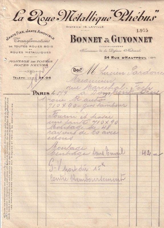 1924 : Bonnet et Guyonnet