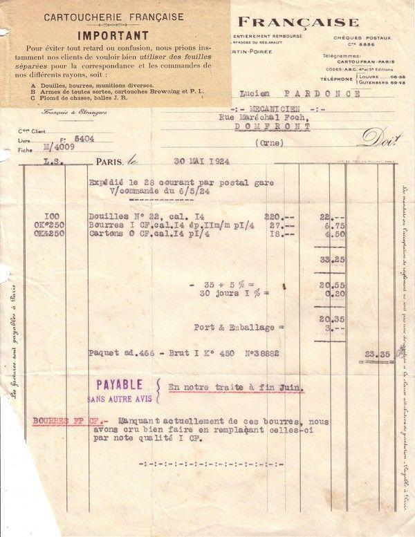 1924 : entretien d'un fusil de chasse