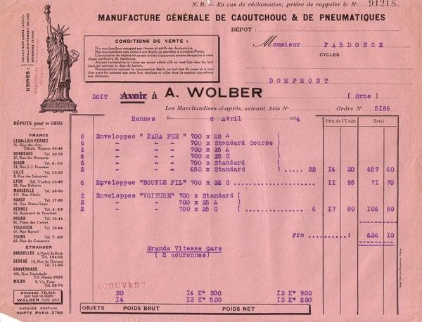 1924 : Wolber