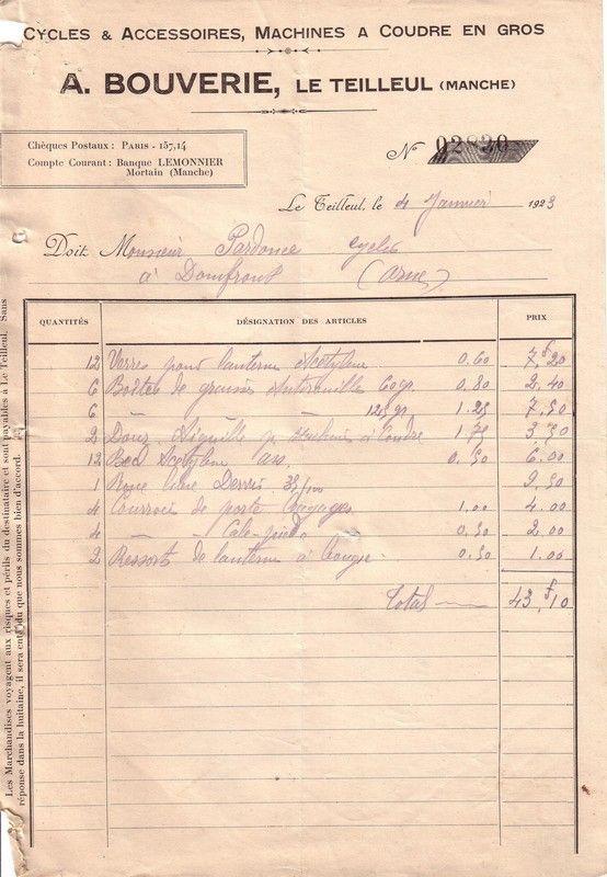 1923 : changement d'aiguille