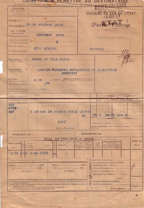 1921 : les chemins de fer de l'Etat