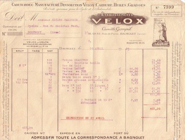 1923 : Velox