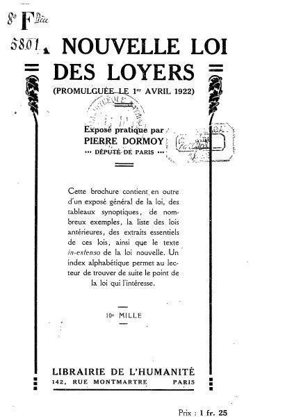 1922 loyer. Black Bedroom Furniture Sets. Home Design Ideas